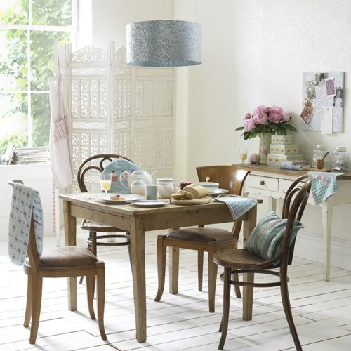 Monsoon home launches new collection by denby pippa for Teal kitchen table