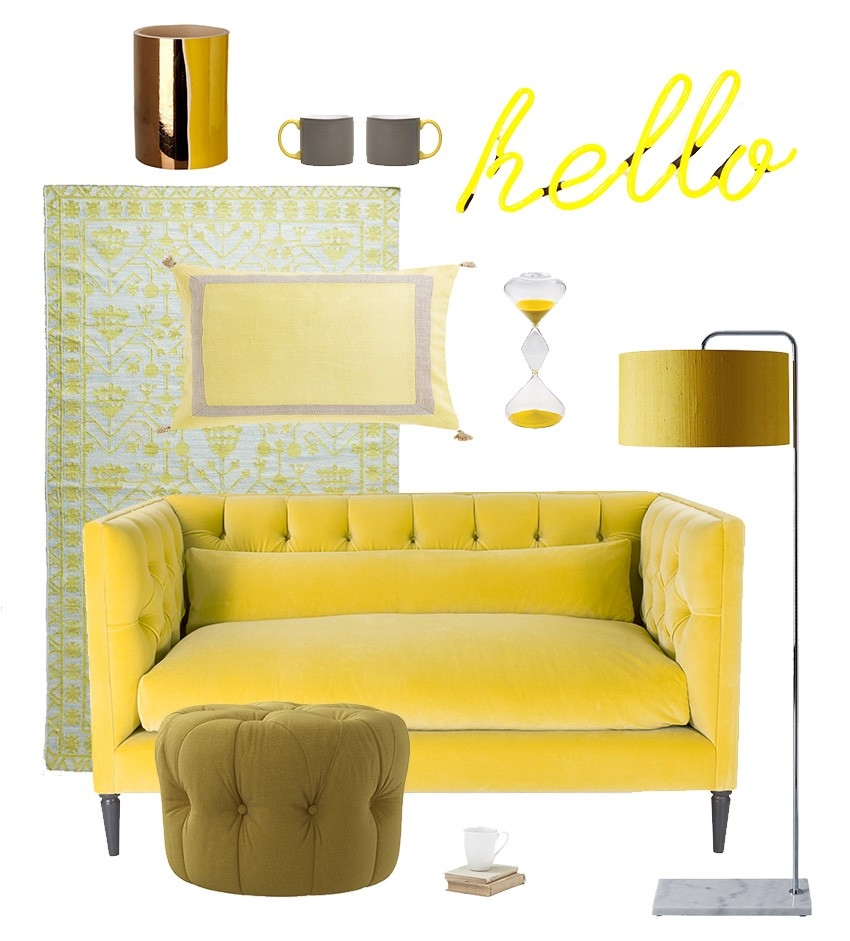 Interior trends by Pippa Jameson Interiors, lemon yellow