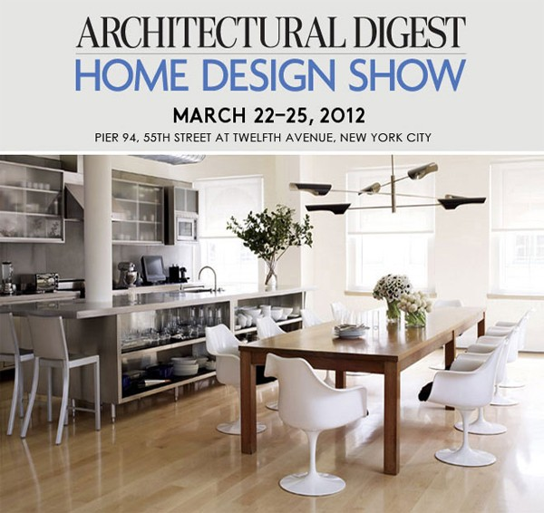 Architectural digest home design show 2012 pippa jameson for Architectural digest show