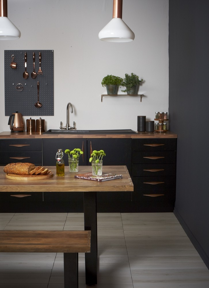 Black Kitchen, Grey And Black Kitchen, Pippa Jameson Interiors, Jo  Henderson Photography,