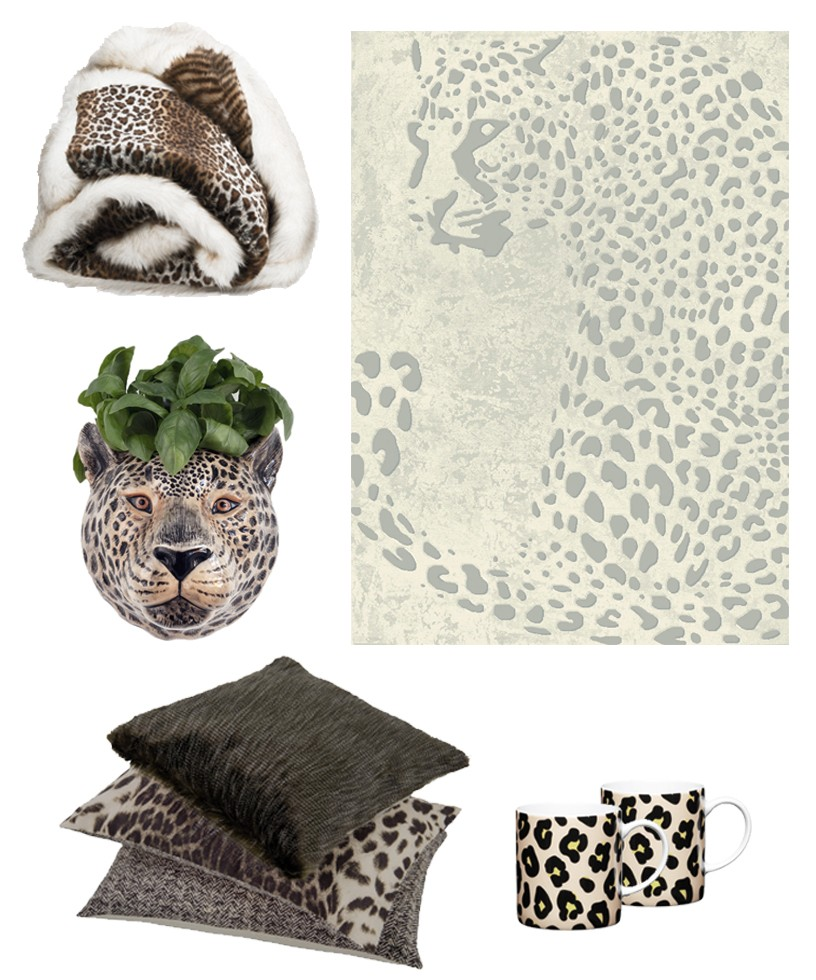 Leopard print accessories for a 2017 interiors trend for Pippa Jameson Interiors