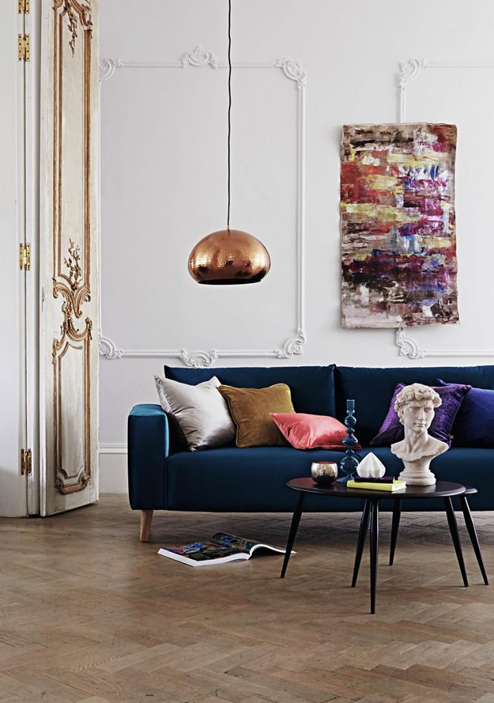 Furniture village velvet sofa showing velvet trends for 2017. Pippa Jameson Interiors